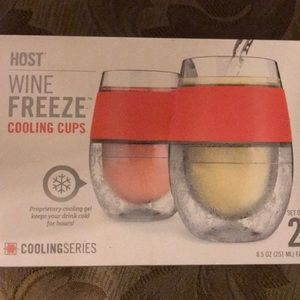 New in box Host wine freeze cooling cups